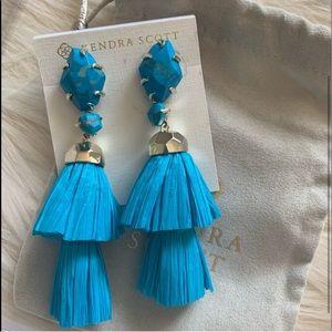 $125 Kendra Scott DENISE Tier Raffia Earrings